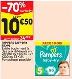 Pampers baby-dry T5 X96 offre à 34,99€