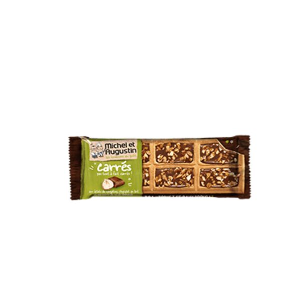Petits carrés chocolat au lait et nougatine offre à 3,9€