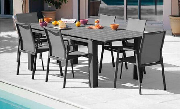 Table de jardin Elisa 180/240 PROLOISIRS grey offre à 649€
