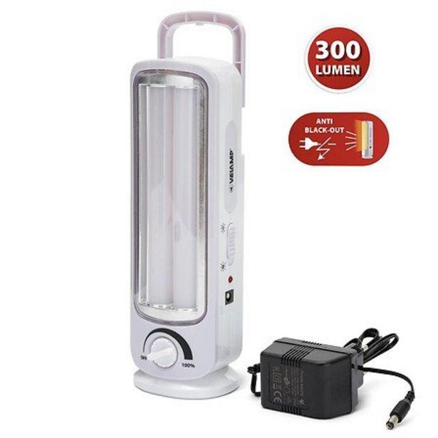 Twix: Lampe Portative Rechargeable Anti-coupures D'électricité, 2 Tubes Led 300lm 23cm offre à 16,8€