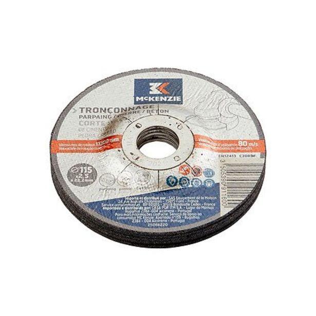 Disque à tronçonner matériaux d.115x2.5mm offre à 2,45€