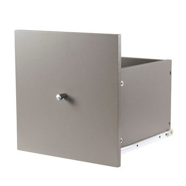 Grand tiroir taupe pour meubles à cases Kasea offre à 12,95€