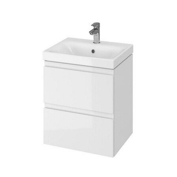 Meuble De Salle De Bain 50 Cm Blanc Minimal offre à 209,3€