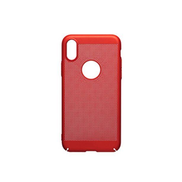 Coque perforée rouge pour iPhone X ou iPhone XS offre à 5€