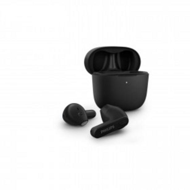 PHILIPS Ecouteurs intra-auriculaires sans fil True Wireless - TAT2236BK/00 - Noir PHILIPS offre à 39,99€