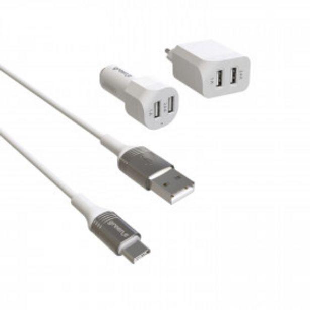 Kit de charge USB-C - GR7034 - Blanc offre à 27,93€