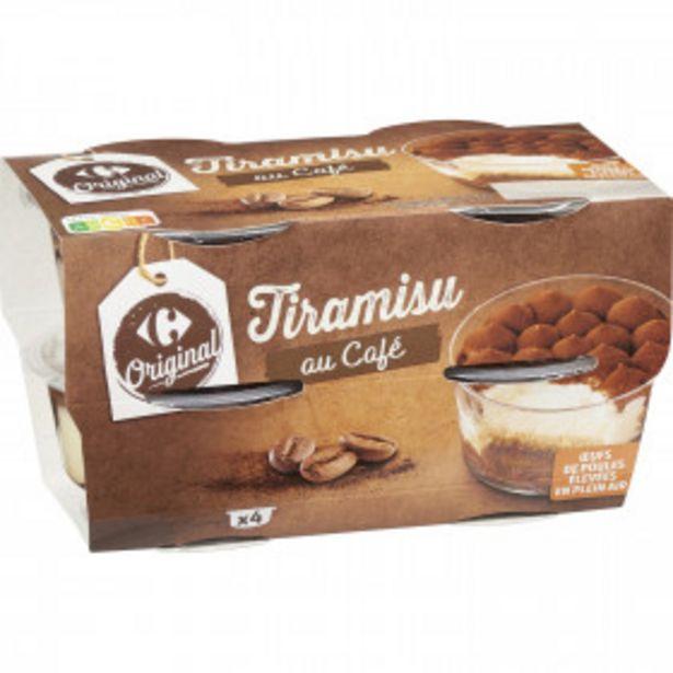 Desserts Tiramisu au café CARREFOUR ORIGINAL offre à 2,82€