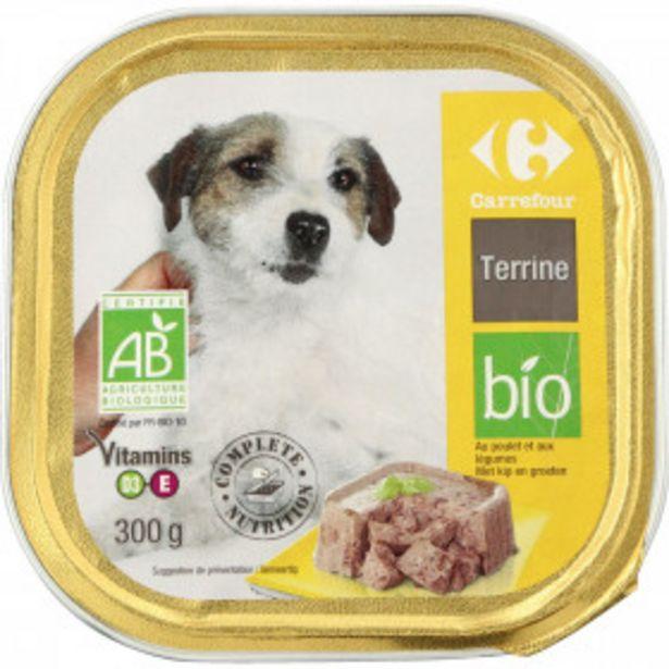 Pâtée pour chiens poulet légumes  Bio CARREFOUR BIO offre à 1,37€