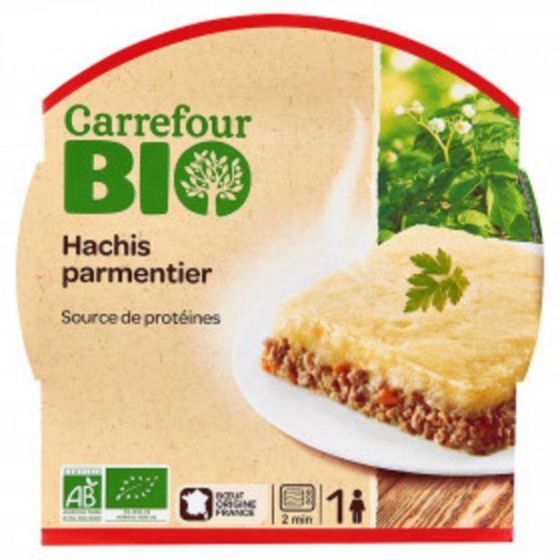 Plat cuisiné hachis parmentier bio CARREFOUR BIO offre à 2,6€