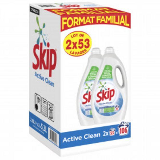 Lessive liquide active clean SKIP offre à 18,33€