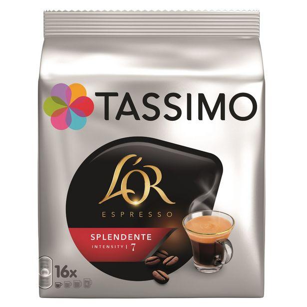 Café dosettes Splendente L'Or TASSIMO offre à 3,42€