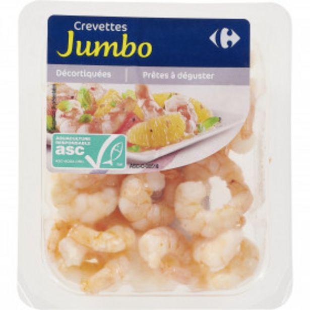 Crevettes Jumbo décortiquées CARREFOUR offre à 2,74€