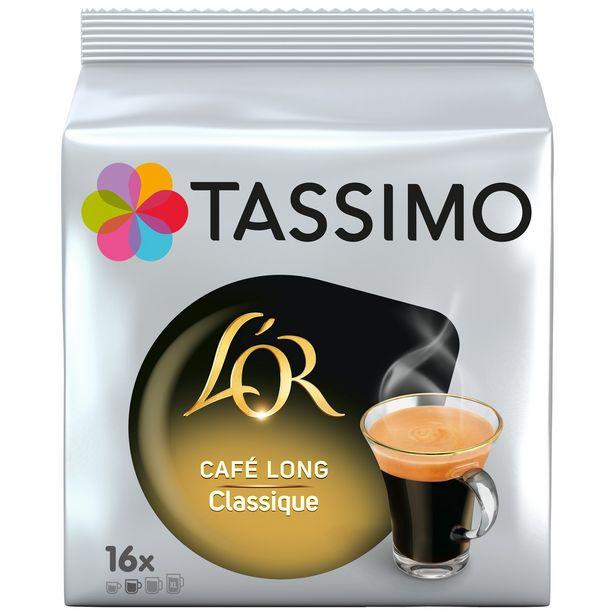 Café dosettes Long Classique L'Or TASSIMO offre à 3,42€