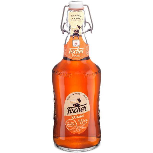 Bière Doreleï ambrée FISCHER offre à 2,2€