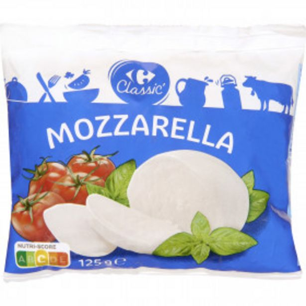 Mozzarella  CARREFOUR CLASSIC' offre à 0,75€
