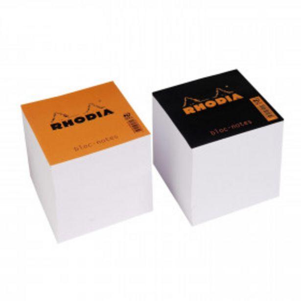 RHODIA Bloc cube 90x90x80 blanc RHODIA offre à 2,76€