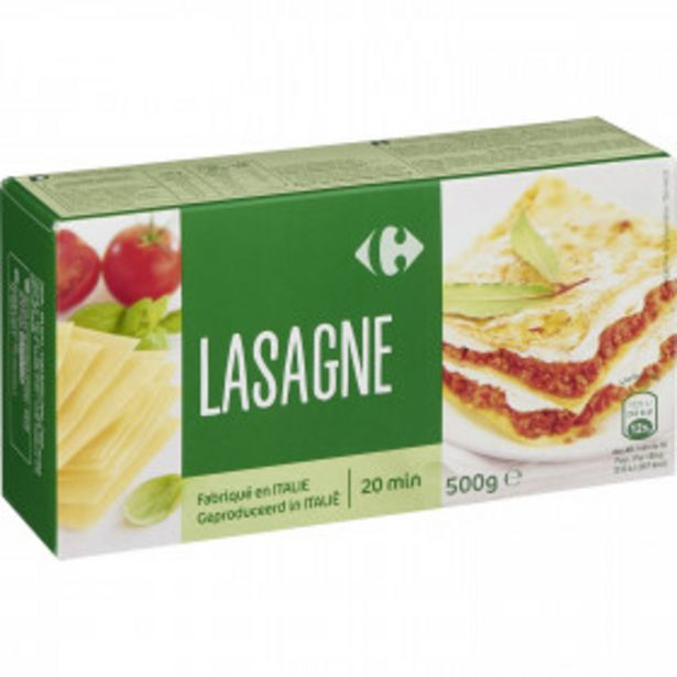 Pâtes lasagnes CARREFOUR offre à 1,35€
