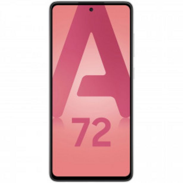Smartphone Galaxy A72 4G - 128 Go - Blanc SAMSUNG offre à 349€
