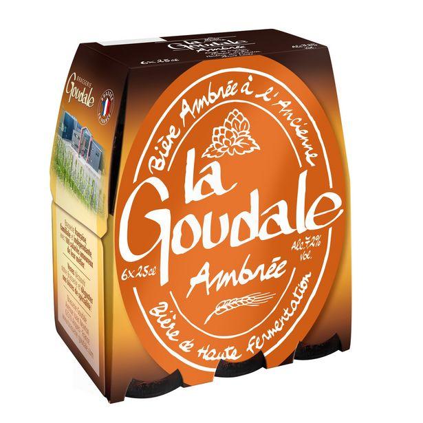 Bière ambrée à l'ancienne LA GOUDALE offre à 4,49€