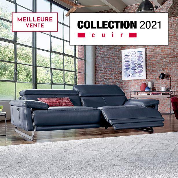 Canapé 3 places relaxation 100% cuir. offre à 2994€