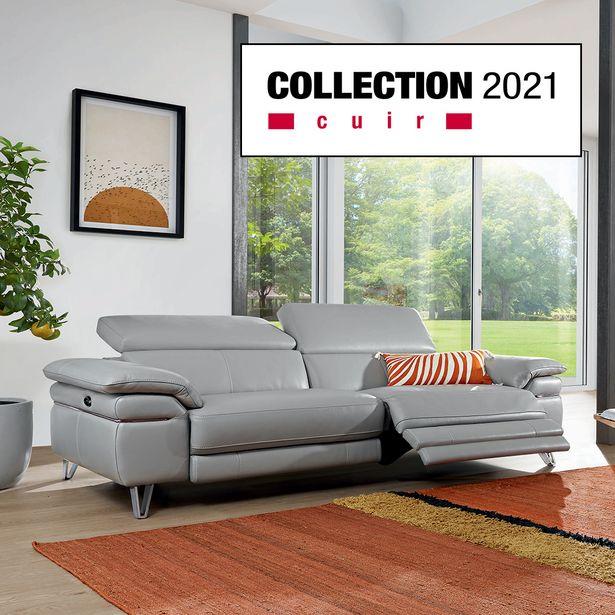 Canapé 3 places relaxation 100 % cuir offre à 2994€