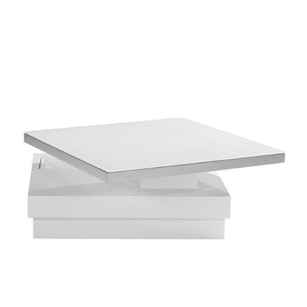Table basse en verre laqué blanc. offre à 820€