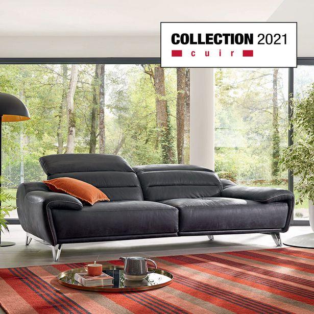 Canapé 3 places 100 % cuir offre à 2867€