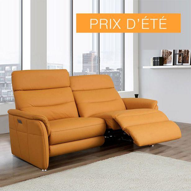 Canapé 2 places relaxation 100% cuir. offre à 3690€