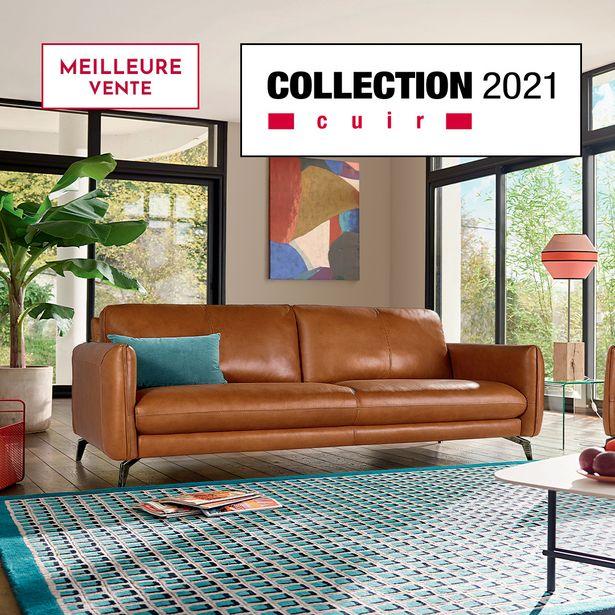 Canapé 3 places 100% cuir. offre à 2393€