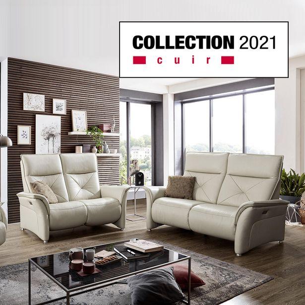 Canapé 2 places relaxation 100 % cuir offre à 4190€