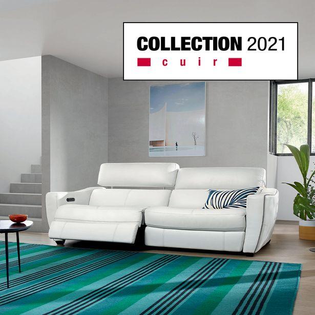Canapé relaxation 3 places 100 % cuir offre à 3330€