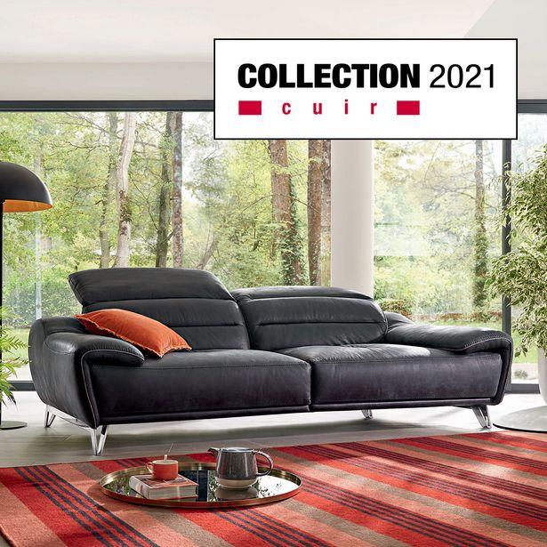 Canapé 3 places 100 % cuir offre à 1990€