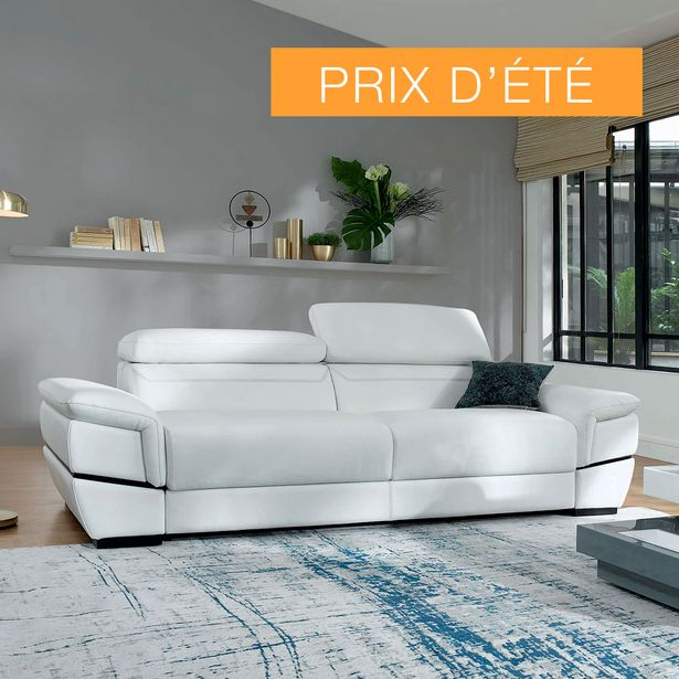 Canapé-lit couchage 140 cm 100% cuir. offre à 2490€