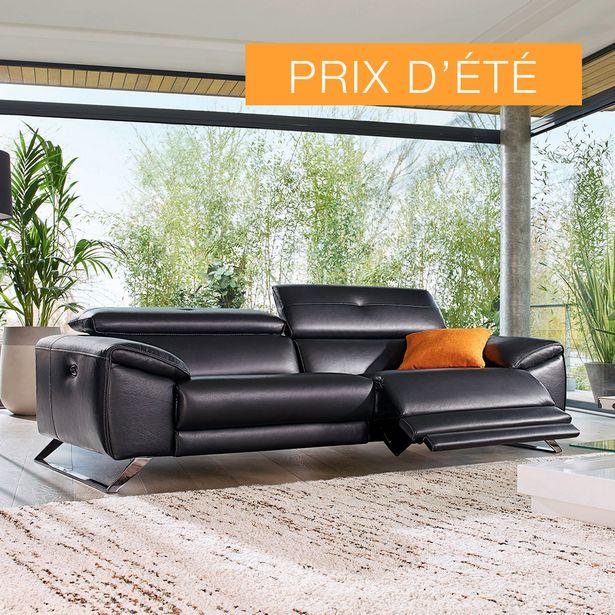 Canapé 3 places relaxation 100% cuir. offre à 2390€