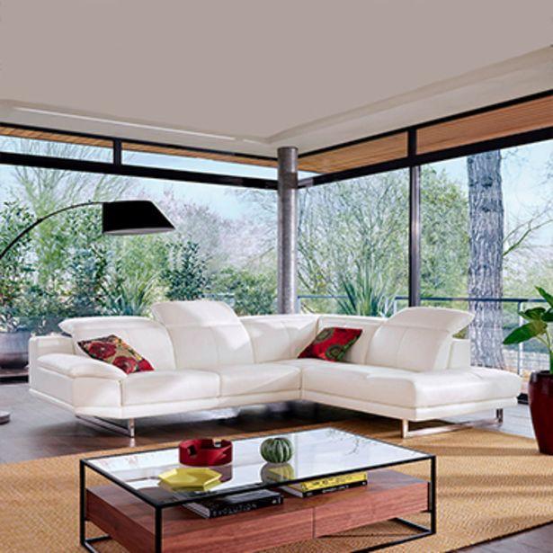 Canapé d'angle 5 places 100% cuir. offre à 3844€
