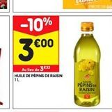 Huile de pépins  offre à 3€