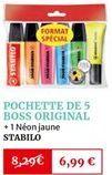 Pochette de 5 boss original offre à 6,99€