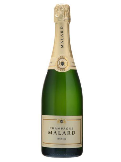 Champagne Malard Demi-Sec offre à 24,5€
