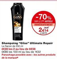 Shampoing Ultimate repair  offre à 3,29€