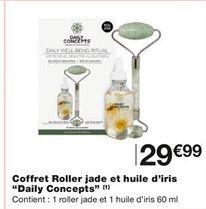 Coffret roller jade et huile d'iris  offre à 29,99€