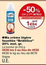 Crème légère fouettée  offre à 2,19€