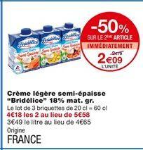 Crème légère semi-épaisse offre à 2,79€