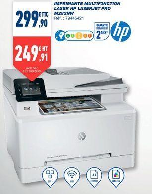 Imprimante multifonction laser HP LasterJet Pro M282NW offre à 299,9€
