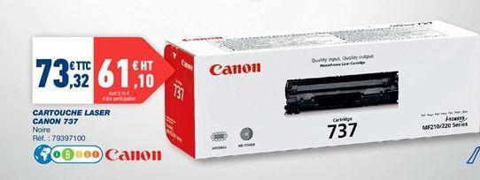 Cartouches laser Canon 737 offre à 73,32€