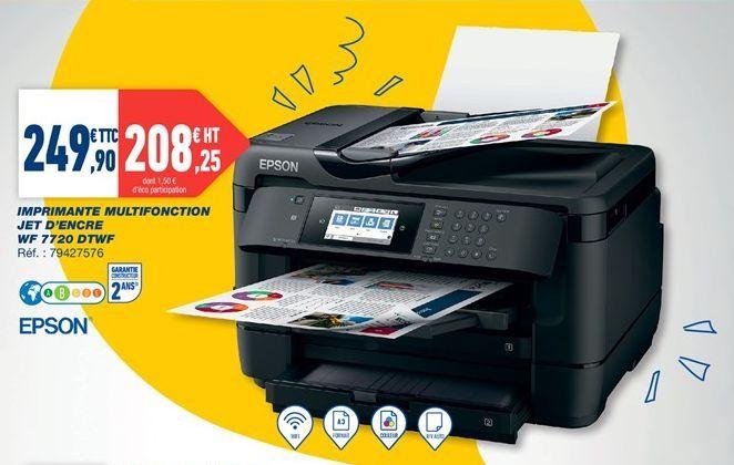 Imprimante multifonction Jet d'encre WF 7720 DTWF offre à 249,9€