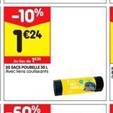 20 Sacs poubelles offre à 1,24€