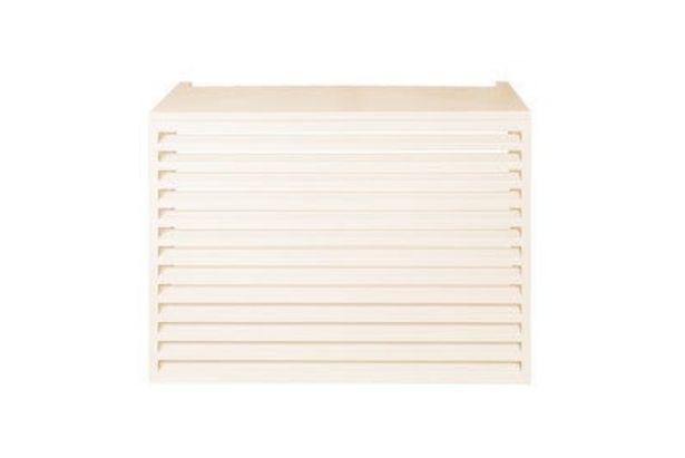 Cache climatiseur extérieur Aluminium Crème 90 x 700 cm - DEVAUX offre à 299€