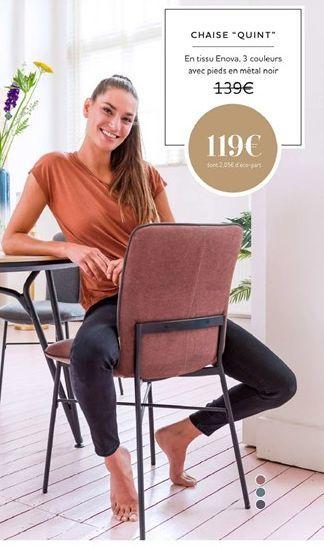 Chaise QUINT offre à 119€