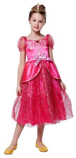 Robe de princesse Rose - Taille 128 offre à 29,99€
