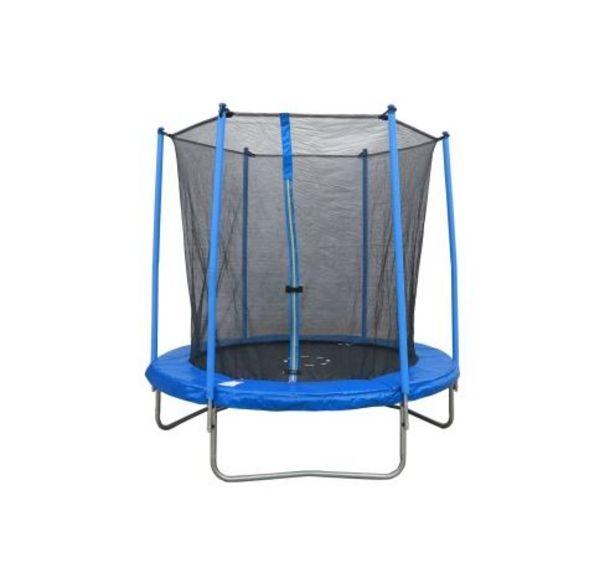 Trampoline rond 244 cm avec filet de sécurité offre à 135,99€